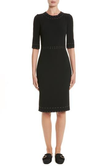 Dolce & gabbana Stretch Cady Sheath Dress, 8 IT - Black