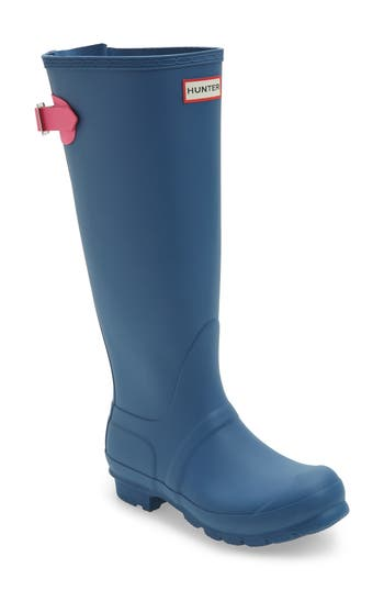 Hunter Adjustable Calf Rain Boot, Blue