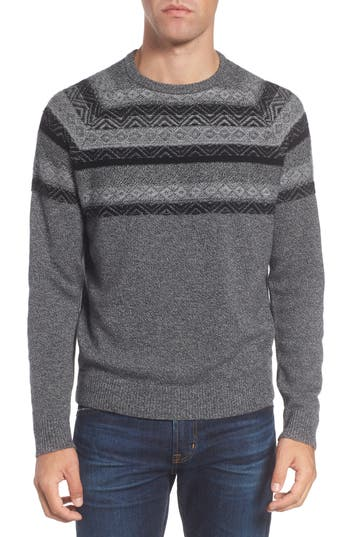Nordstrom Shop Pattern Wool & Cashmere Sweater, Grey