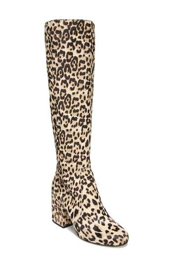 Sam Edelman Thora Genuine Calf Hair Knee High Boot, Ivory