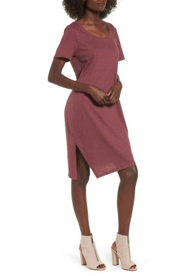 Socialite T-Shirt Dress, Burgundy