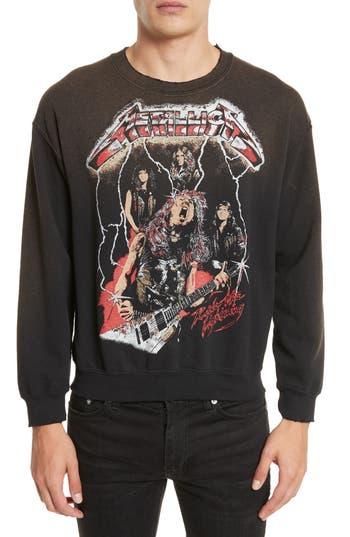 Men's Madeworn Metallica Glitter Graphic Sweatshirt