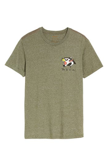 Rvca Panther Graphic T-Shirt, Green