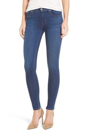 Hudson Nico Mid Rise Super Skinny Jeans, 7 - Blue
