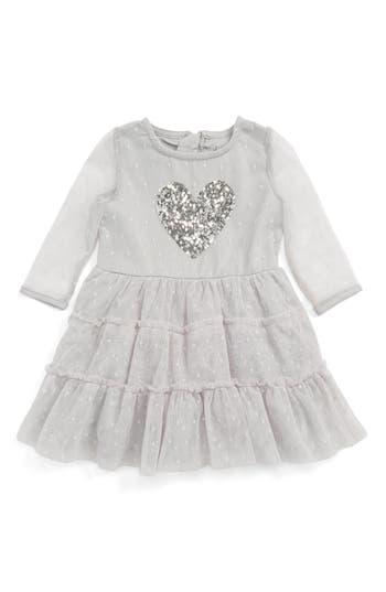 Toddler Girl's Bardot Junior Heart Appliqué Dress