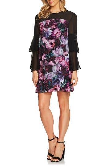 Women's Cece Camille Ruffle Sleeve Shift Dress, Size 8 - Black