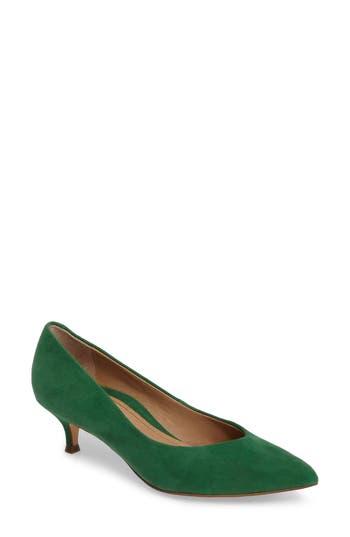 Vionic Josie Kitten Heel Pump, Green