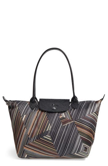 Longchamp Op Art Nylon Tote - Beige