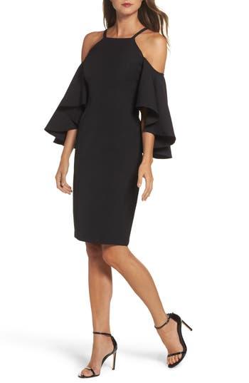 Vince Camuto Laguna Cold Shoulder Sheath Dress, Black