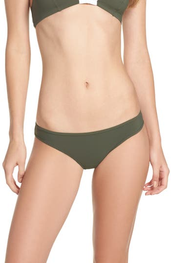 Diane Von Furstenberg Bikini Bottoms, Size Petite - Green