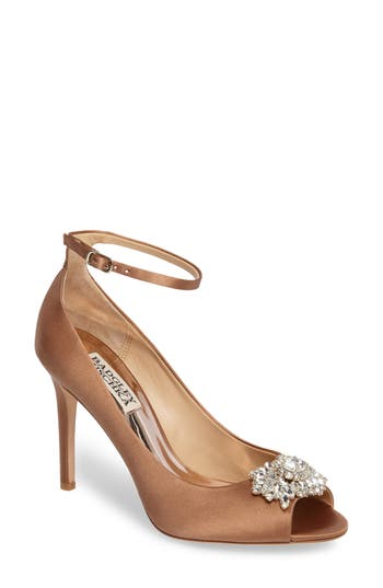 Badgley Mischka Kali Ankle Strap Pump, Beige