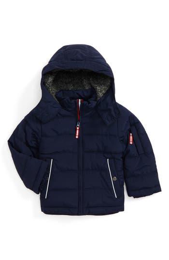 Boy's Mini Boden Hooded Jacket