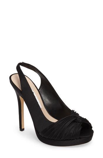 Nina Felyce Peep Toe Slingback Pump, Black
