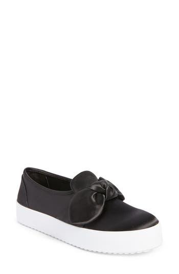 Rebecca Minkoff Stacey Bow Platform Sneaker- Black