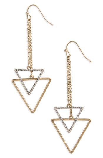 Women's Canvas Jewelry Chain Drop Triangle Earrings
