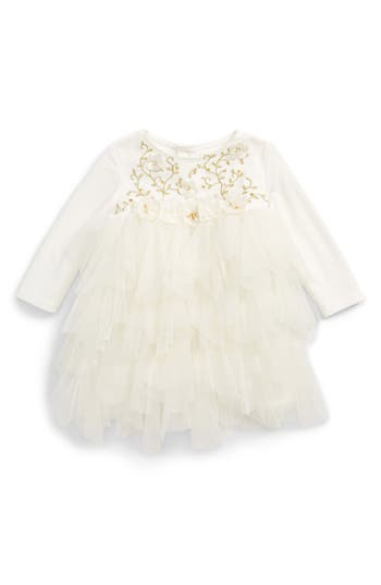 Infant Girl's Biscotti Embroidered Bodice Dress