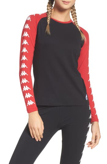 Kappa Authentic Woodstock Baseball Tee, Black