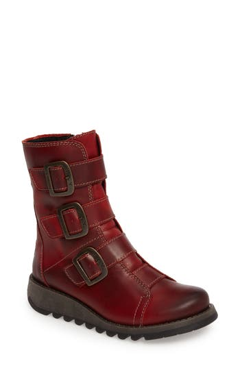 Fly London Scop Boot - Red