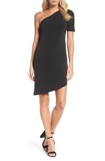 Leota Christina One-Shoulder Dress, Black