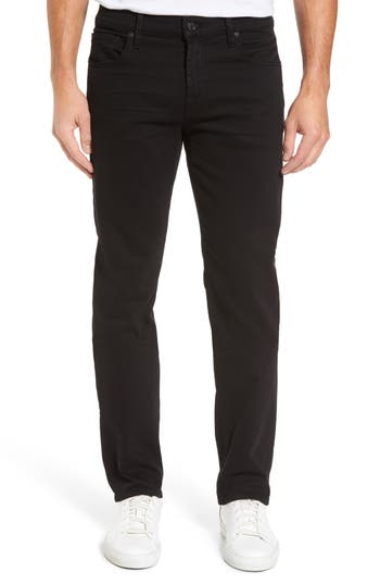 7 For All Mankind The Standard Straight Leg Jeans, Black