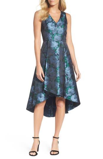Adrianna Papell Brocade High/low Dress, Blue