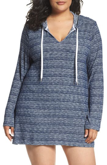 Plus Size La Blanca Cover-Up Tunic, Blue