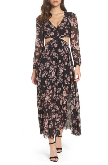 Bardot Winter Floral Dress, Black