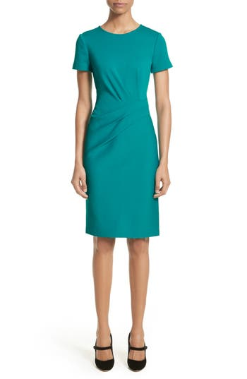 St. John Collection Milano Knit Dress, Blue/green