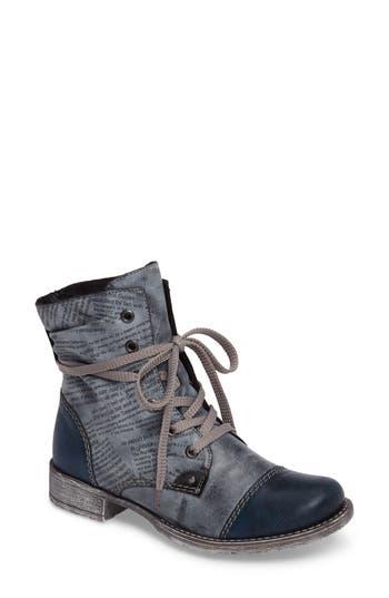 Rieker Antistress Payton 22 Lace-Up Boot, Blue