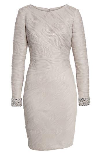 Eliza J Embellished Sleeve Knit Sheath Dress
