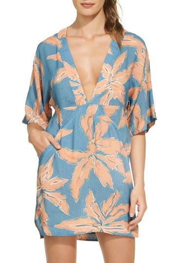Vix Swimwear Margarita Cloe Cover-Up Caftan, Blue