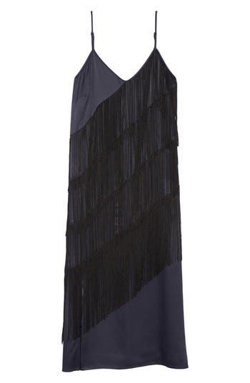 Nic+Zoe Fringed Up Midi Dress, Blue