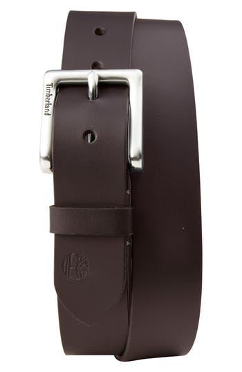 Timberland Leather Belt, Dark Brown