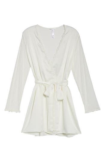 FLORA NIKROOZ SHOWSTOPPER CHARMEUSE COVER-UP ROBE, SEAGLASS | ModeSens