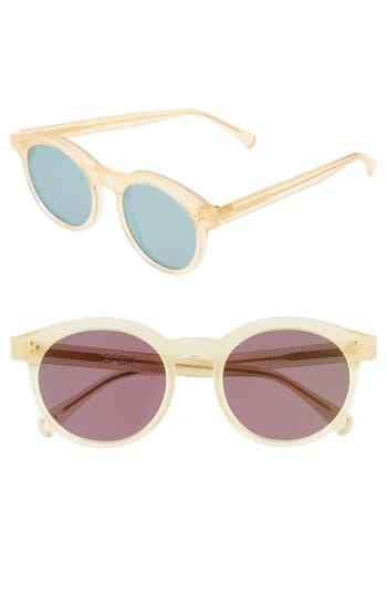 Wildfox Harper Zero 5m Round Keyhole Sunglasses - Gold Pearl