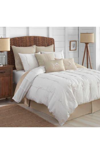 Southern Tide Seabrook Comforter, Sham & Bed Skirt Set, Size Queen - Beige
