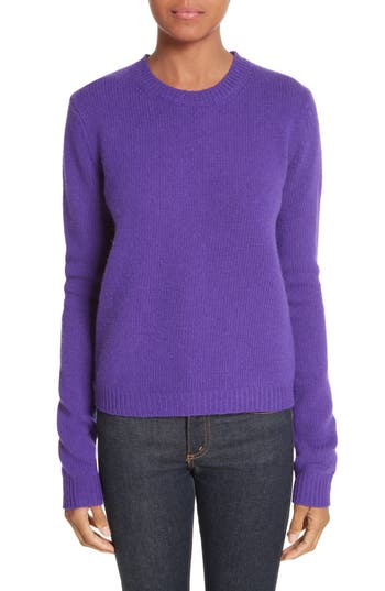 Acne Studios Siw Wool Sweater, Purple