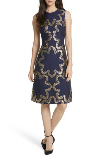 Ted Baker London Kyoto Fit & Flare Dress, Blue