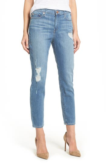 True Religion Brand Jeans Colette High Waist Tapered Skinny Jeans, 3 - Blue