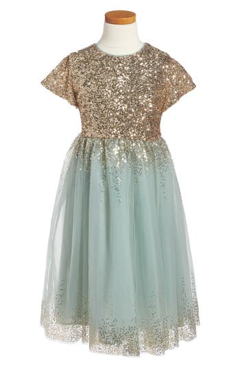 Girl's Wild And Gorgeous Sequin Moon Party Dress
