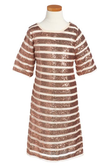 Girl's Dorissa Alexa Sequin Dress, Size 7 - Metallic