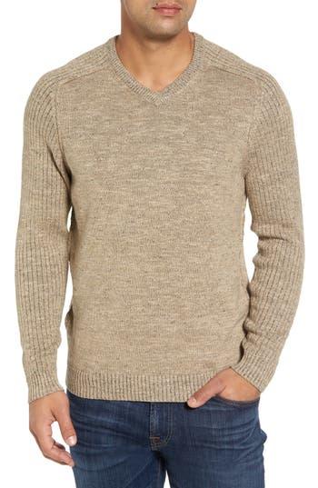 Big & Tall Tommy Bahama Gran Rey Flip Reversible Cotton & Wool Sweater - Brown