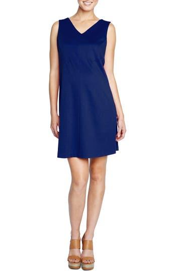 Maternal America Princess Shift Maternity Dress, Blue