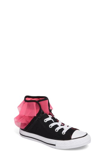 Infant Girls Converse Block Party High Top Sneaker Size 2 M  White