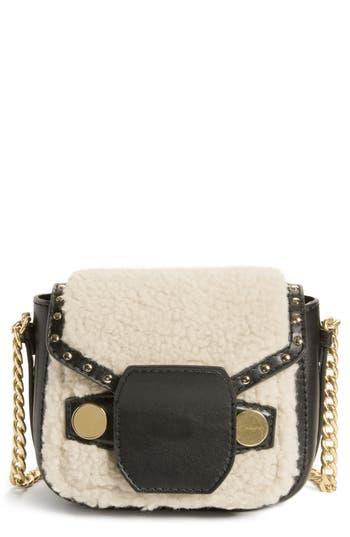Stella Mccartney Faux Shearling & Leather Crossbody Bag -