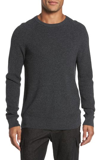 French Connection Ribbed Crewneck Sweater, Black