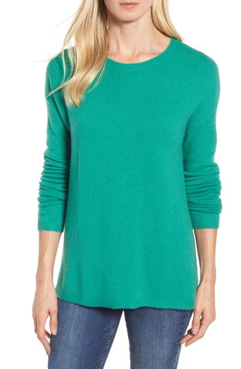 Women's Halogen Bow Back Sweater, Size X-Large - Green