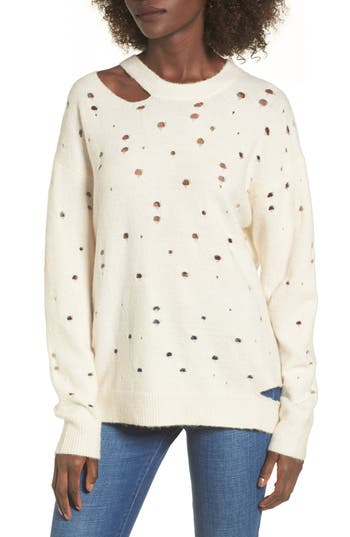 Women's Astr The Label Distressed Sweater at NORDSTROM.com