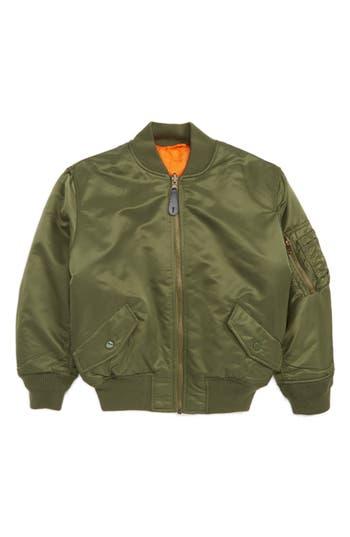 Boys Alpha Industries Ma1 Flight Jacket Size 67  Green