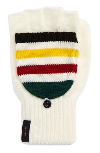 Pendleton National Park Pop Top Mittens, Size One Size - Ivory